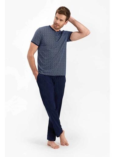Arnetta Complex Lacivert Erkek Kısa Kol Pijama Takımı Lacivert
